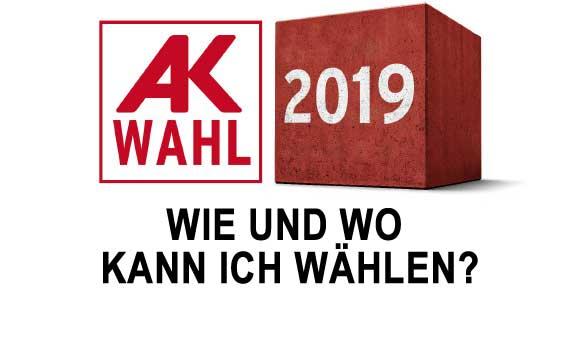 Arbeiterkammer Wahl 2019 - Wie und wo kann ich wählen?