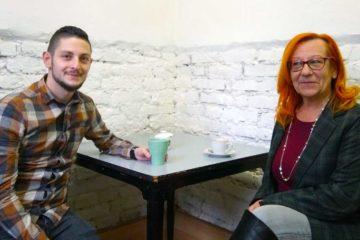 Franz Kahr und Magna Betriebsrätin sowie AK-Rätin Hilde Tragler im Interview